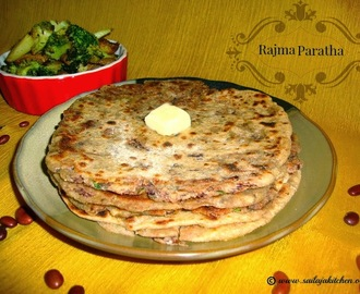 Rajma Paratha Recipe / Kidney Beans Paratha Recipe - Indian Flatbread Using Red Kidney Beans