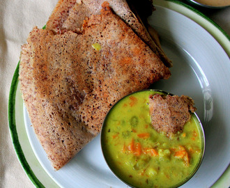 Ragi Dosa recipe - Finger Millet dosa recipe - Healthy breakfast, Dinner recipe - Diabetic friendly recipe - South Indian Breakfast recipe
