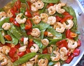 Shrimp & Sugar Snaps in Red Chili Sauce #Weekly Menu Plan