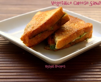 Vegetable Cheese Sandwich - Veg Cheese Sandwich on tawa