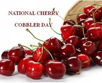 """Tip Tuesday"" & A ""Cherry Cobbler"" & A ""Cherry Cobbler Cocktail"" For ""National Cherry Cobbler Day"""