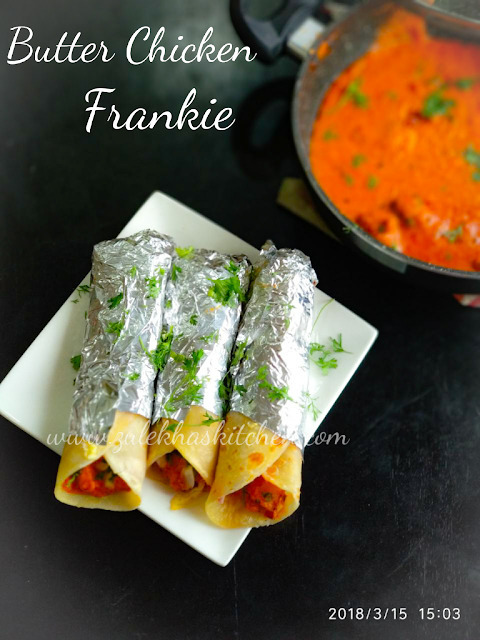 Recipe of Butter Chicken Frankie