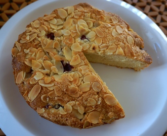 Cherry and Almond Cake and the one egg saga