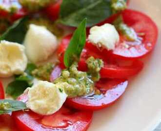 Caprese Salad With Pumpkin Seed, Chili Pesto