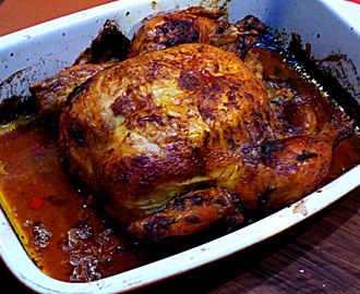 Whole roasted curry chicken