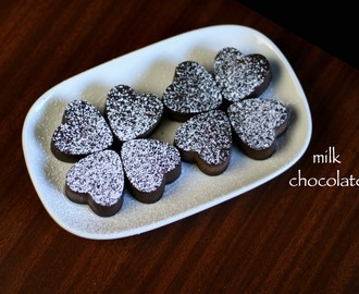 homemade chocolate recipe | how to make milk chocolate recipe