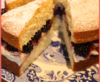 The Hairy Bikers' Victoria Sponge with Blackberries and Spiced Cream