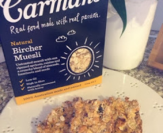 Natural Bircher Museli and Apple Breakfast Bars using Carman's Muesli