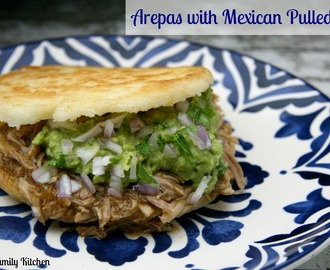 Arepas with Mexican Pulled Pork