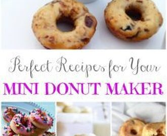 Perfect Mini Donut Maker Recipes