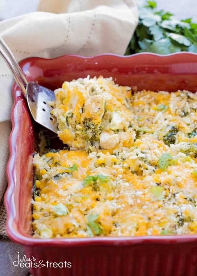Vegetable and Cheesy Chicken Rice Casserole Recipe