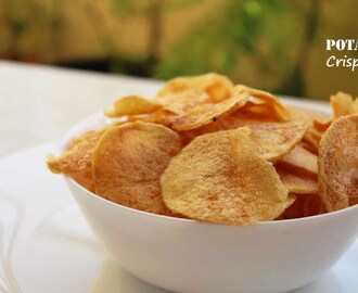 HOMEMADE POTATO CHIPS RECIPE -  PERFECT CHIPS SNACKS