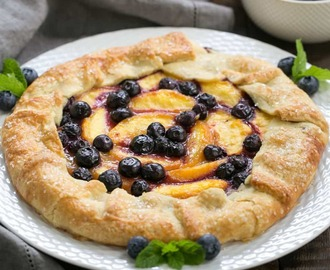 Peach Blueberry Galette #SummerDessertWeek