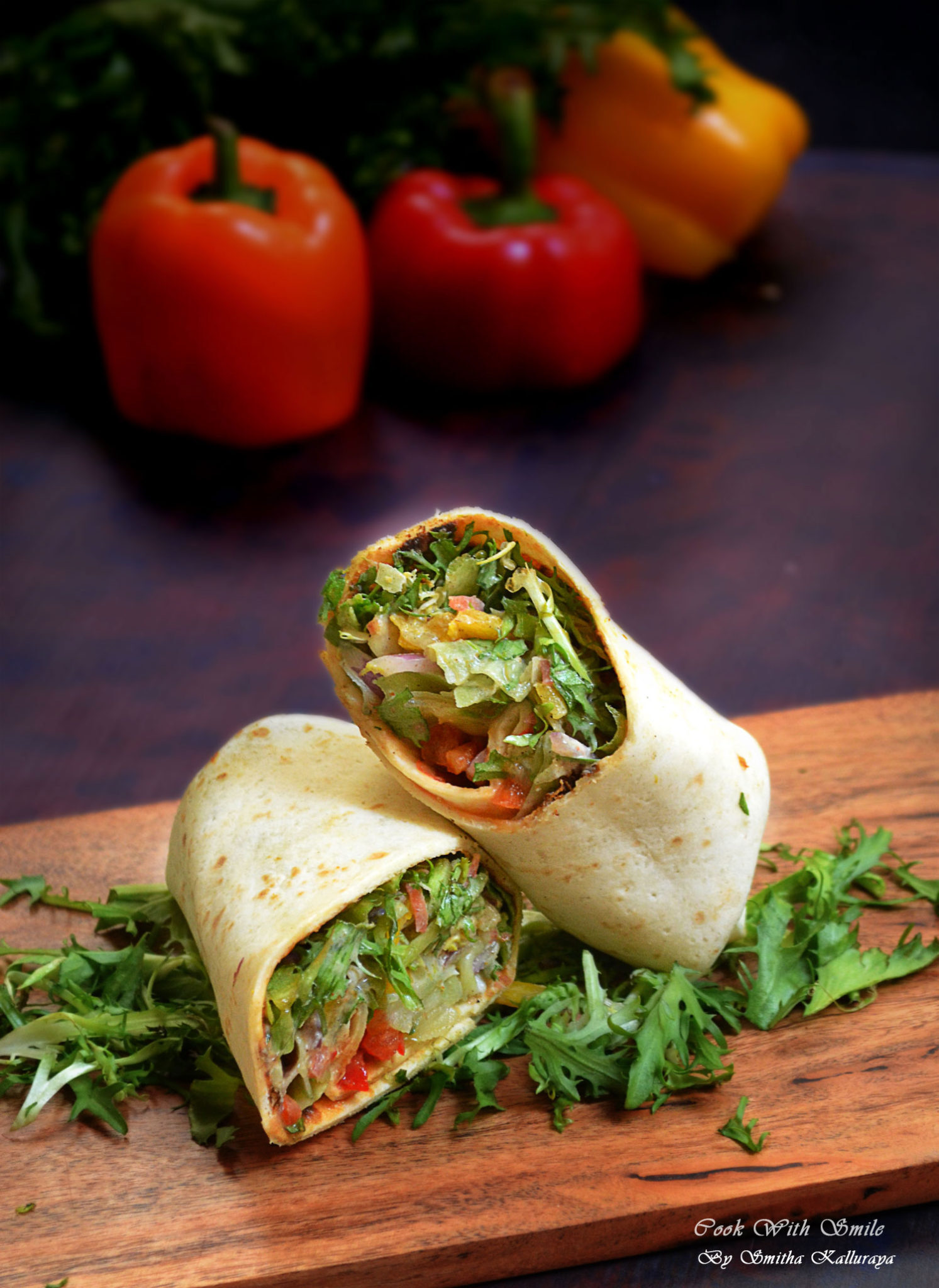 VEGGIE SALAD WRAP RECIPE / INDIAN VEG WRAP RECIPE