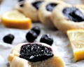 12 Days of (vegan) Christmas Cookies, Day 5: Lemon Thumbprint Cookies with Vanilla Blueberry Chia Jam