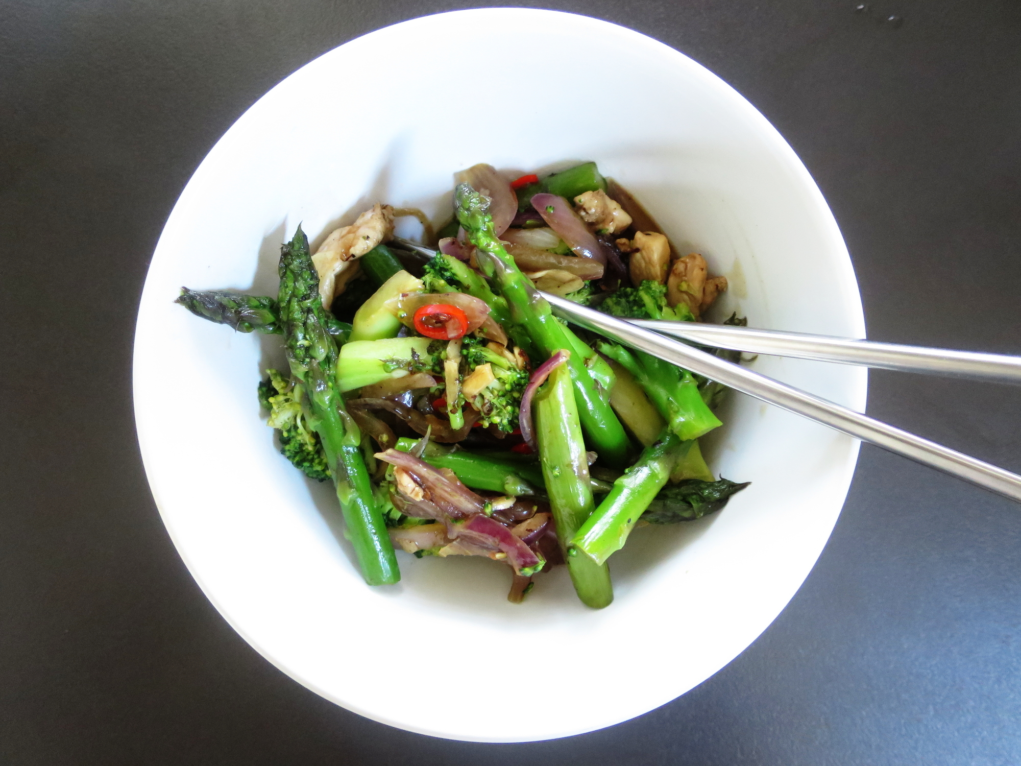 Chicken, Broccoli and Asparagus Stir Fry