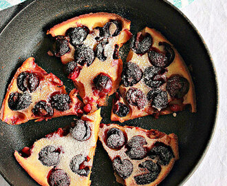 Eggless Cherry Clafoutis