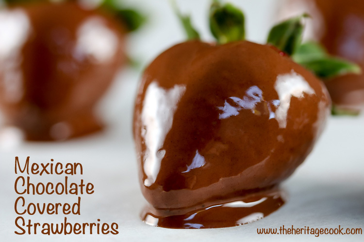 Mexican Chocolate-Dipped Strawberries (Gluten & Dairy Free)