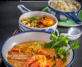 Thai red curry noodle soup..