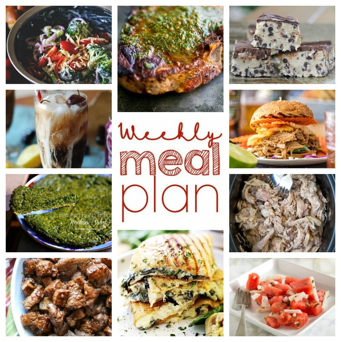 Weekly Meal Plan Week 51