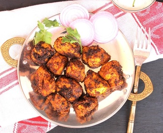 Tawa Chicken Fry | Pan Fried Chicken Tikkas