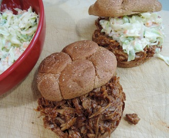 Pulled Pork Sandwiches with Creamy Coleslaw