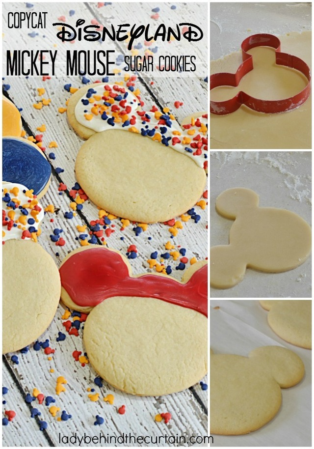 Copycat Disneyland Mickey Mouse Sugar Cookies