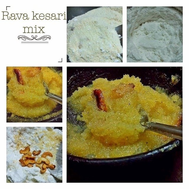 RAVA KESARI AND RAVA LADOO ( TWO IN ONE RECIPE )