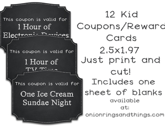 FREE Kids' Reward Coupons Printables
