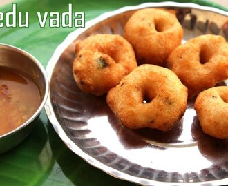Medu vada recipe – How to make south indian medu vada (urad dal vada) recipe – South Indian snacks