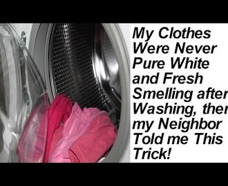 My Clothes Were Never Pure White and Fresh Smelling after Washing, then ...
