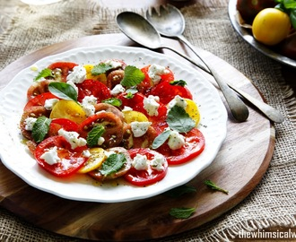 Easy Heirloom Tomato Salad with Goat's Cheese & Herbs