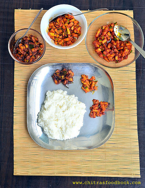 Instant Mango Pickle Recipe – Andhra, Kerala, Tamil nadu Style Raw Mango Pickle With Video