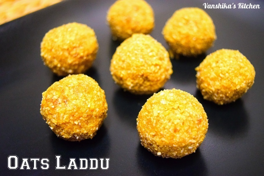 Oats Laddu | Easy Oats and Cashewnuts Laddu (Oats Balls with jagerry and cashew nuts)