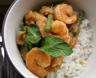 Pumpkin Curry with Prawns