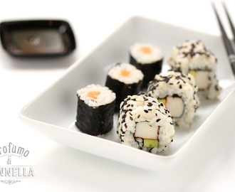 Sushi fatto in casa – Maki vegetariano e California Uramaki