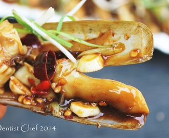 Recipe Stir Fried Razor Clams with Oyster Sauce (Resep Kerang Bambu Saus Tiram ala Sajian Sedap_)