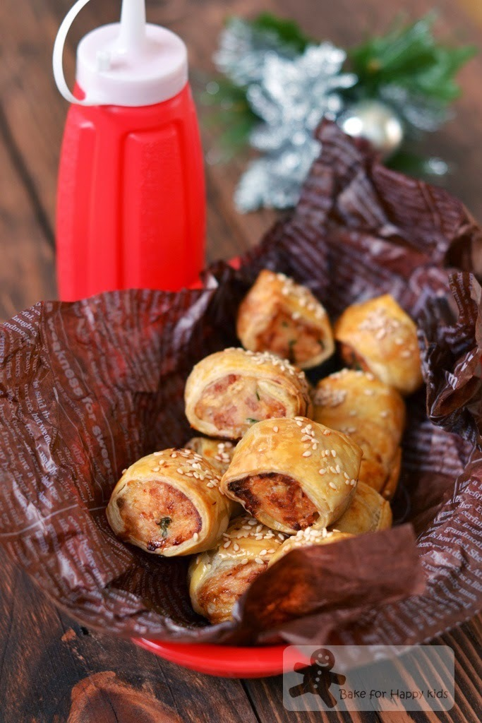 Chicken and Bacon Sausage Rolls (Bourke Street Bakery)