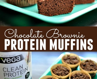 Chocolate Brownie Protein Muffins Recipe with Vega® Clean Giveaway