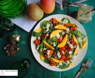 Christmas Recipes: Mango and Butter Chicken Salad with Spinach and Brown Rice