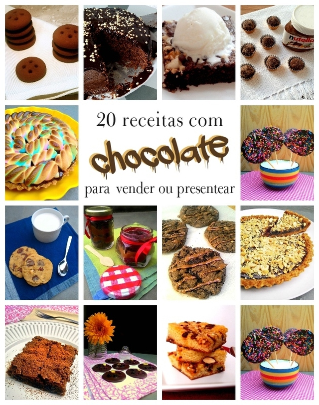 20 receitas com chocolate para vender ou presentear