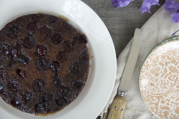 Zoe Salmen's delicious cherry upside down cake