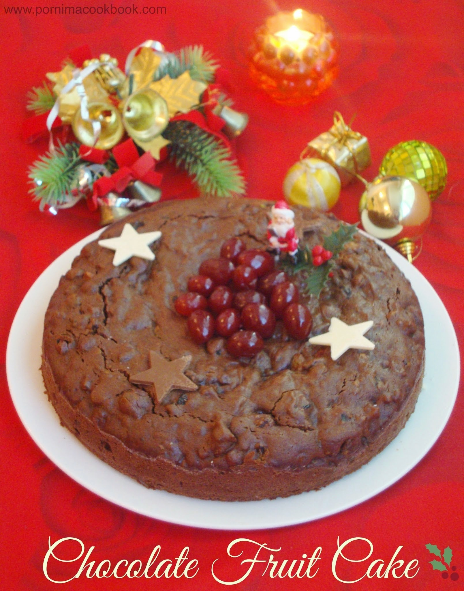 Chocolate Fruit Cake / Chocolate Christmas Cake