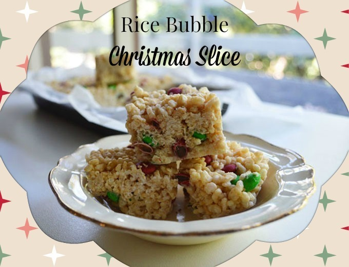 Rice Bubble Christmas Slice