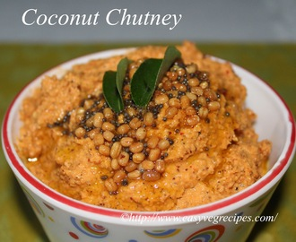 Fresh Coconut Chutney Recipe -- How to make Fresh Coconut Chutney