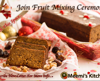 Christmas Cake Fruit Mixing Ceremony