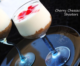 CHERRY CHEESECAKE SHOTS - QUICK DESSERTS FOR PARTIES