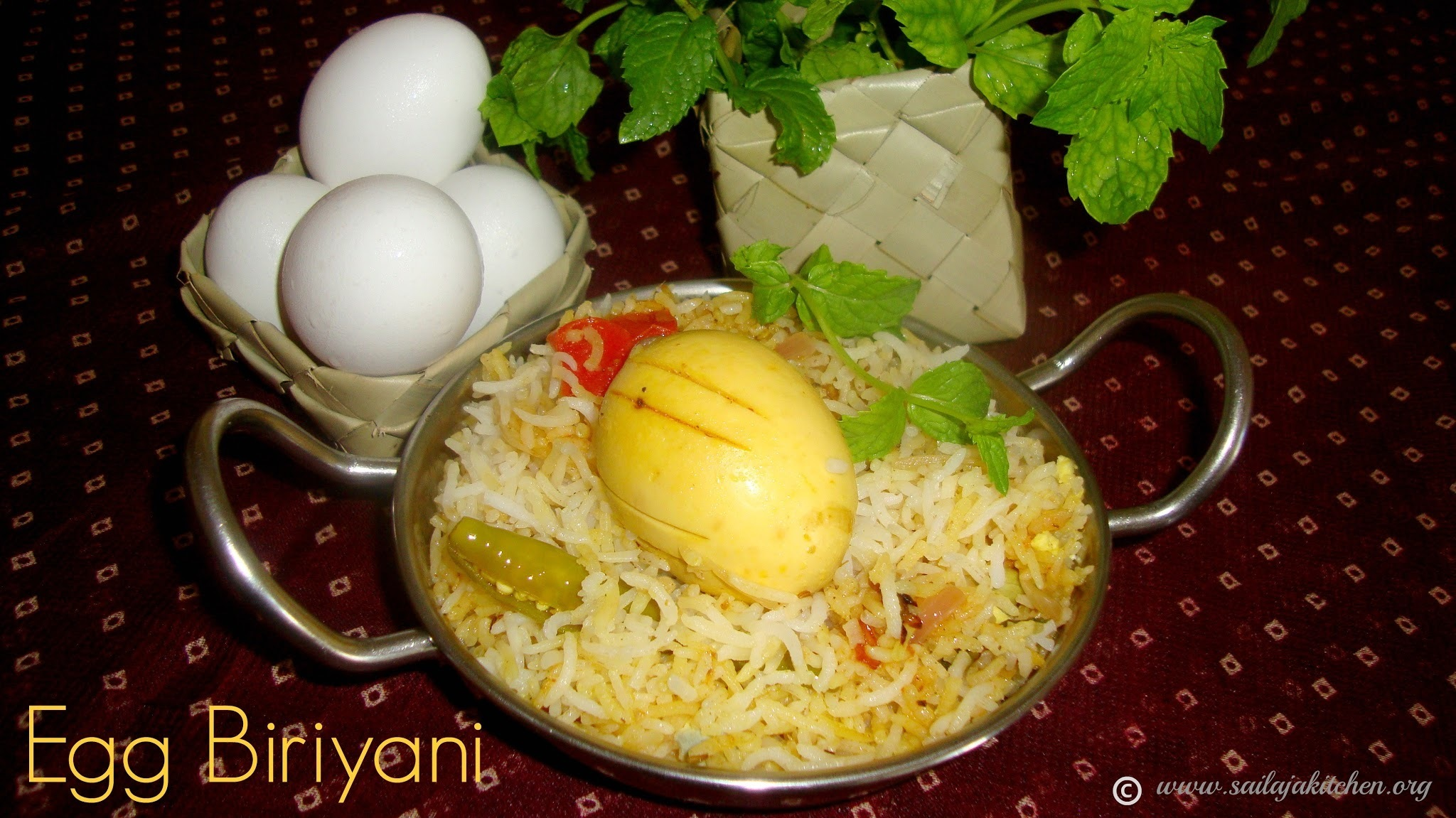 Egg Biryani Recipe / Egg Biriyani Recipe / Muttai Biriyani / Hyderabadi Egg Biryani Recipe