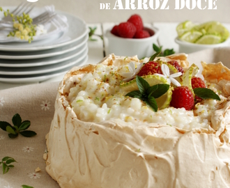 Pavlova de Arroz Doce {Rice Pudding Pavlova}