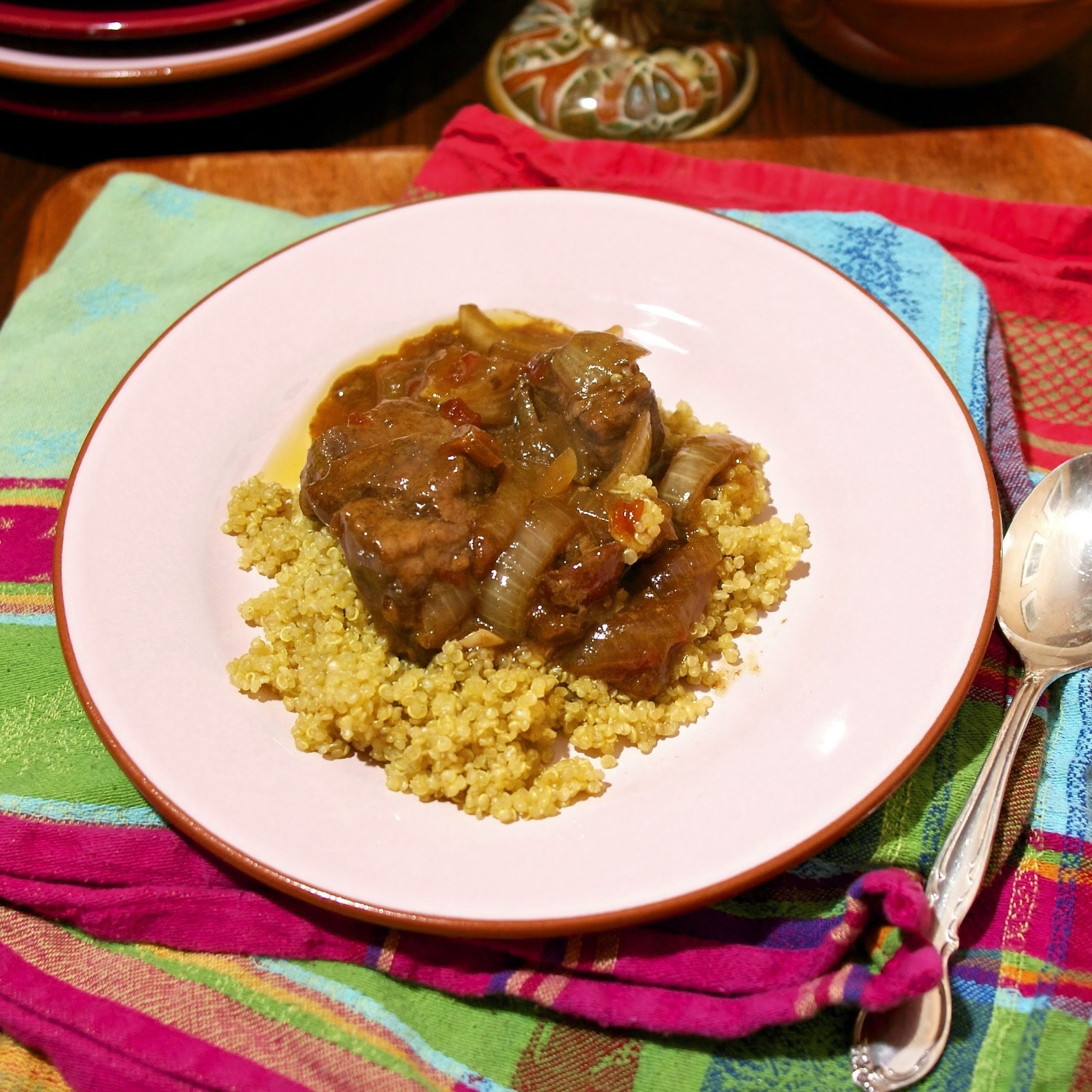 Slow Cooker Beef & Dried Apricot Tagine  #French Fridays with Dorie